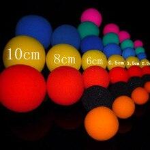 10 шт. 2,5 см/3,5 см/4,5 см/6 см губчатые шарики для пальцев, забавные игрушки, уличная Классическая иллюзия, сценическая комедия, Детские фокусы, реквизит