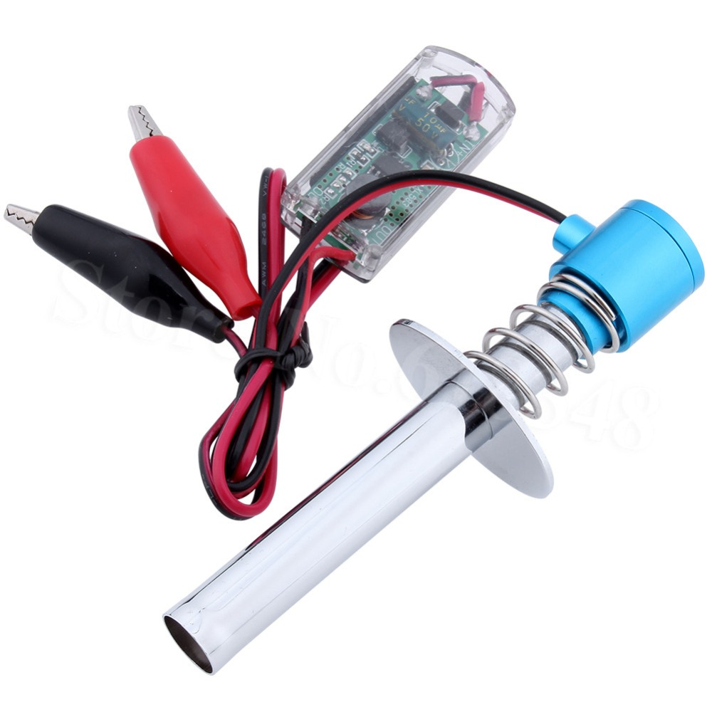 6-12V Electric Glow Plug igniter Starter Upgraded Electronic for RC 1/10 1/8 Nitro Car Monster Truck alligator clip HSP Himoto 1800mah rechargeable glow plug igniter ignition starter kit ac charger for gas nitro engine power 1 10 1 8 rc car hsp 80101