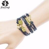 Cuir véritable bracelet tressé Bracelets Bella Risse https://bellarissecoiffure.ch