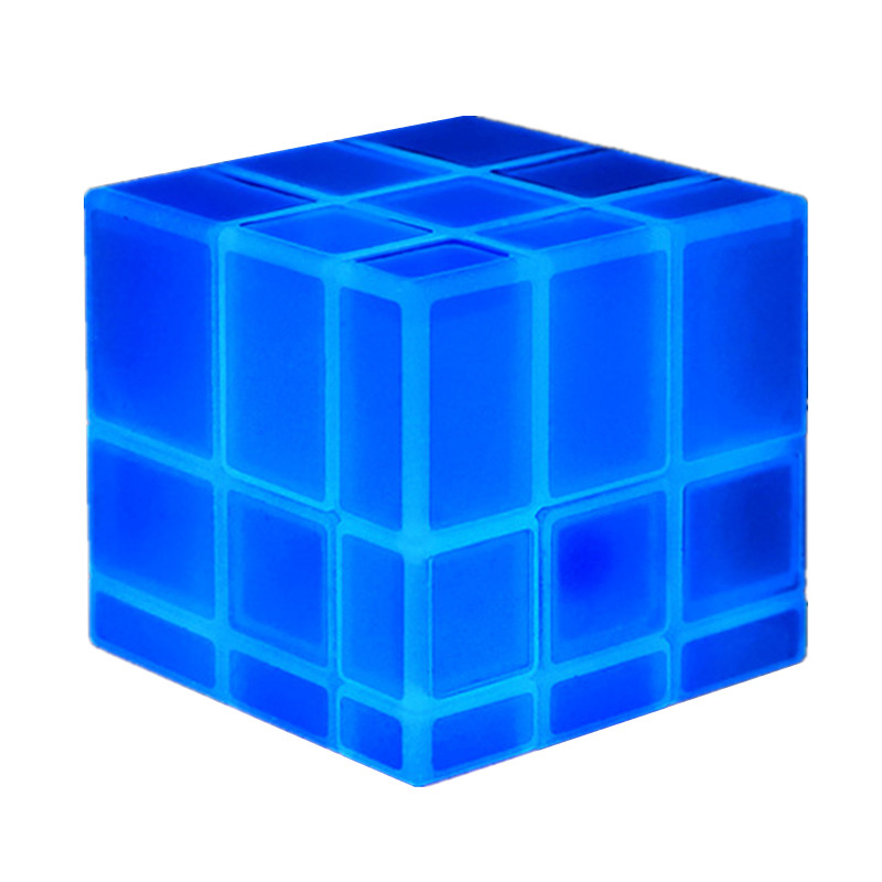 все цены на New QiYi 3X3X3 Mirror Blocks Luminous Magic Speed Cube Puzzle Cubo Magico Professional Learning&Educational Classic Toys Cube