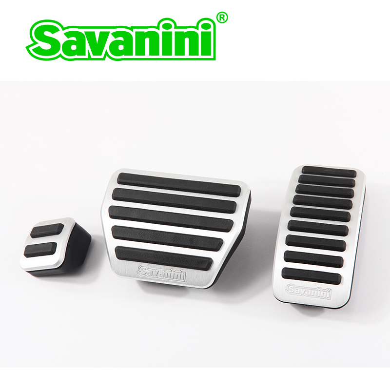 Savanini Freno Gas Accelerator Pedal Pad Copertura per Infiniti QX60/QX80 e Nissan Murano Auto Car Nessuna Perforazione In Alluminio