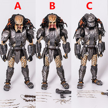 New NECA AVP Alien vs. Predator 33cm 1/6 scale Scar Predator MMS190 PVC Action Figure Collectible Model Toys gifts 18cm neca aliens action figure ricco frost private figure toy with weapon helmet alien vs predator avp model doll