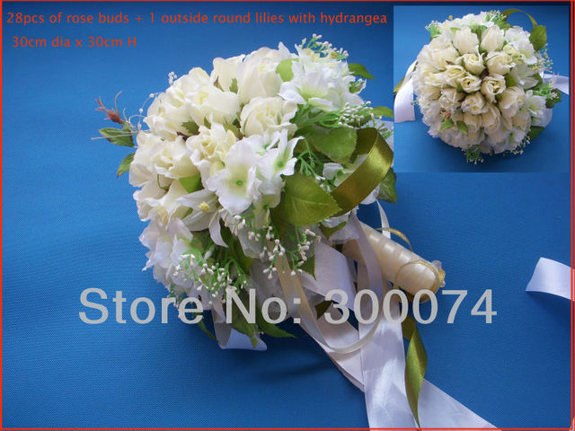 Artificial roses silk flower bouquet for wedding ivory white blue artificial roses silk flower bouquet for wedding ivory white blue purple pink mightylinksfo