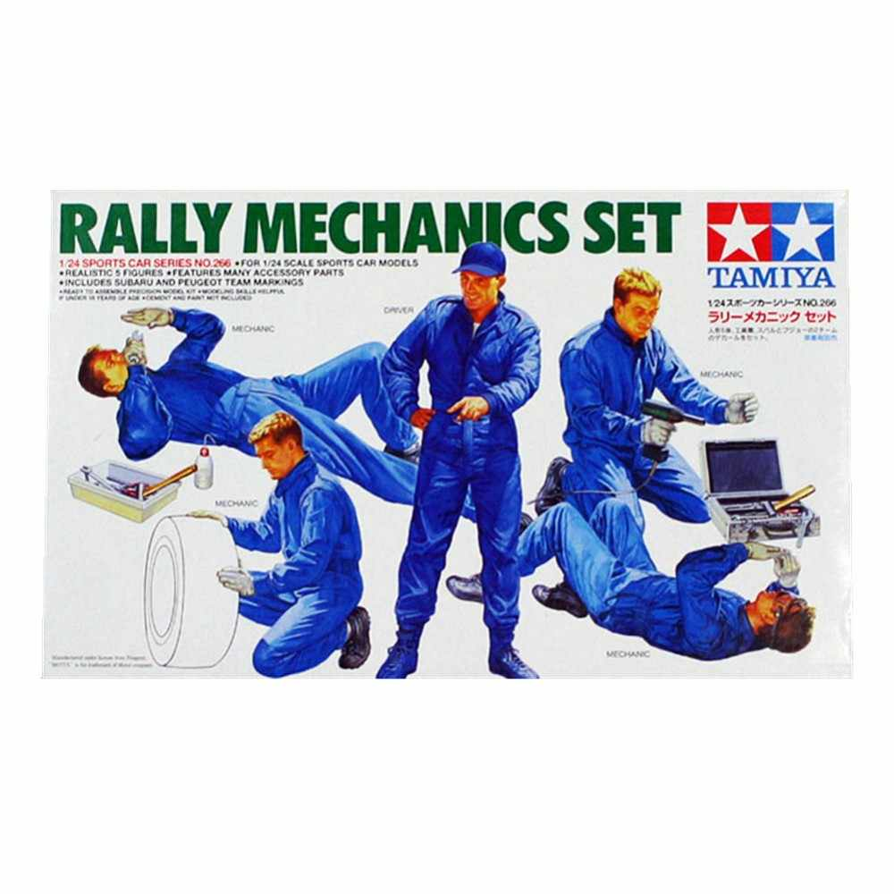Tamiya 24266 1/24 Rally Mechanica Set Miniaturen figures Vergadering plastic Model Building Kits oh rc speelgoed