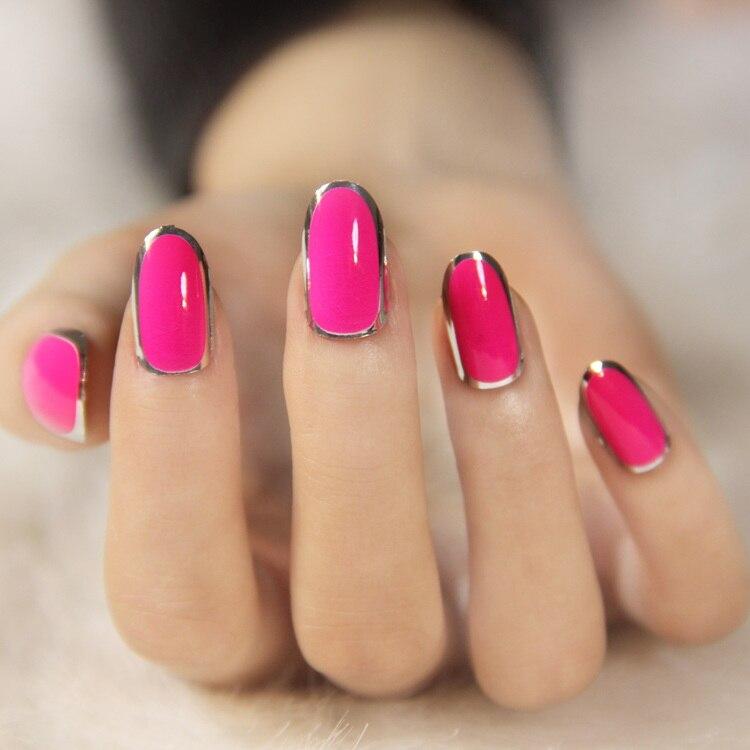 fluorescent color nail art fashion