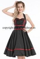 Women's Rockabilly Cherry Retro Swing 50s 60s Pinup Vintage Housewife Dress 1033
