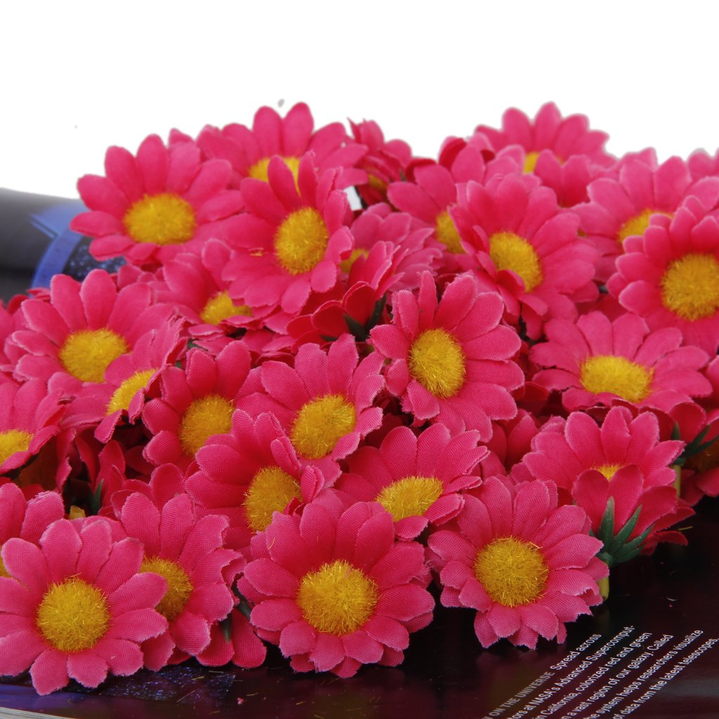 Online get cheap red daisy flower aliexpress alibaba group nhbr 100pcs artificial daisy flowers heads for wedding party rose red dhlflorist Gallery
