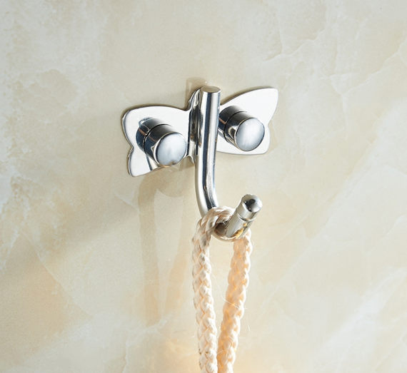 Unique Small Butterfly Wall Hook Curtain Tie Backs / Coat Hooks Decorative  Clothes Hangers Hat Hangers