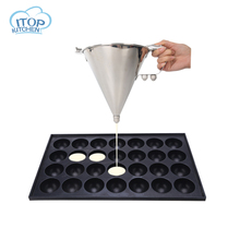 Stainless Steel Octopus Funnel Oil Funnel Takoyaki Octopus Ball Tool Baking Tool Fast Delivery High Quality jiqi octopus balls filler takoyaki stainless steel filling funnel manual waffle batter separator chocolate cream baked hopper