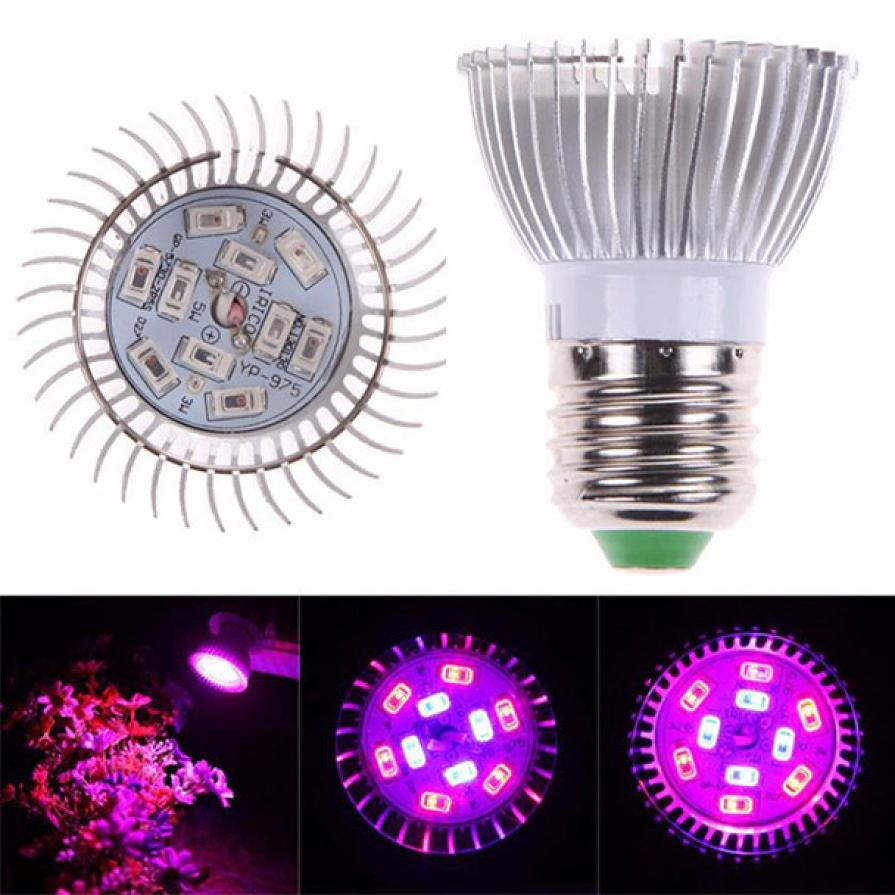 LED Grow lights E27 10W LED Grow Light Veg Flower Indoor Plant Hydroponics Full Spectrum Lamp mar16