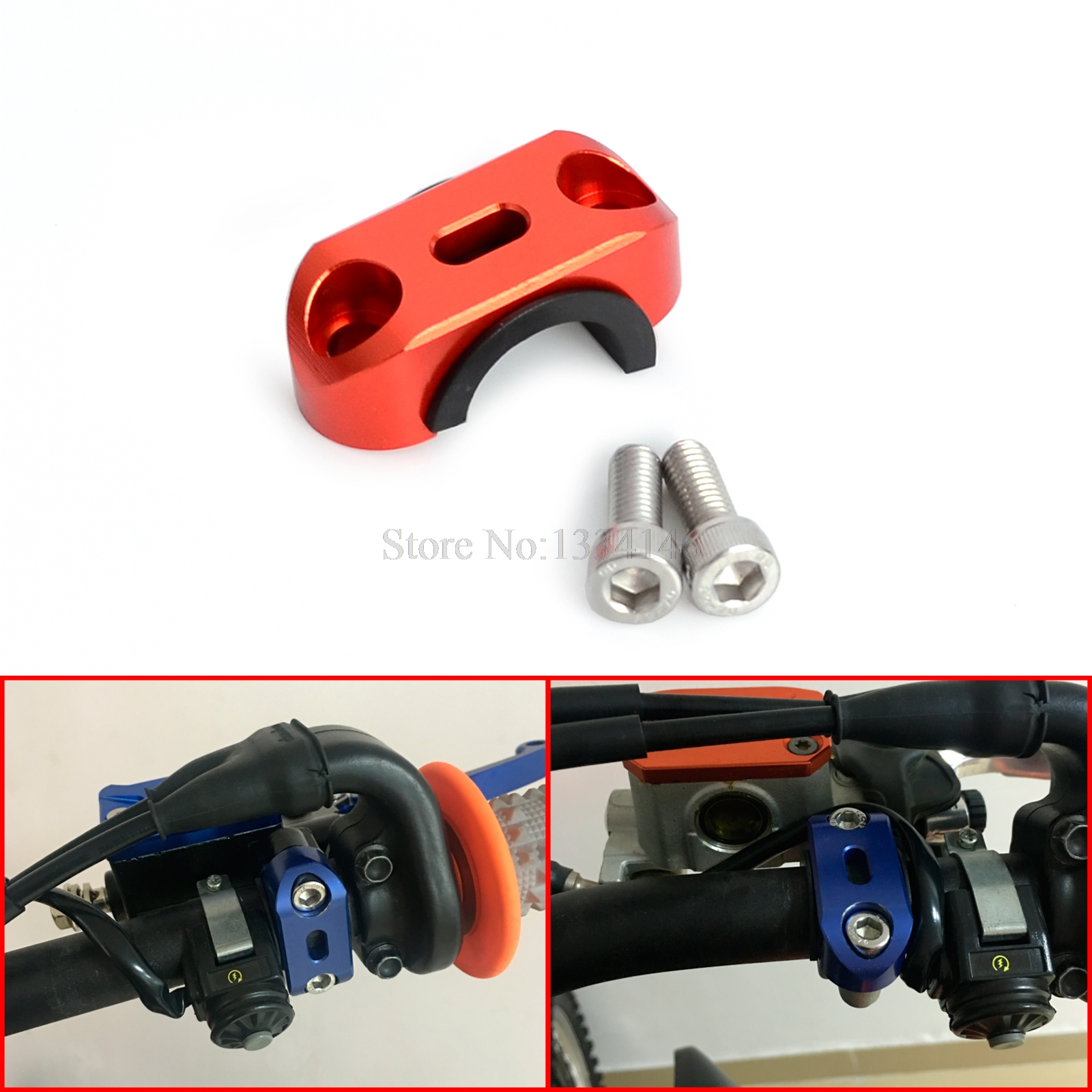 NICECNC Clutch Brake Master Cylinder Clamp Handlebar Bar Clamp Cover For KTM 125 250 350 450 525 SX SXF EXC EXCF XC XCW 00-2015