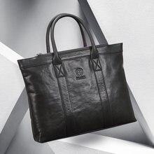 Men's genuine leather Tote Bag Men handbag Brand business hand bag Casual Men Shoulder Bag Laptop Briefcase Male Handbags Bags F