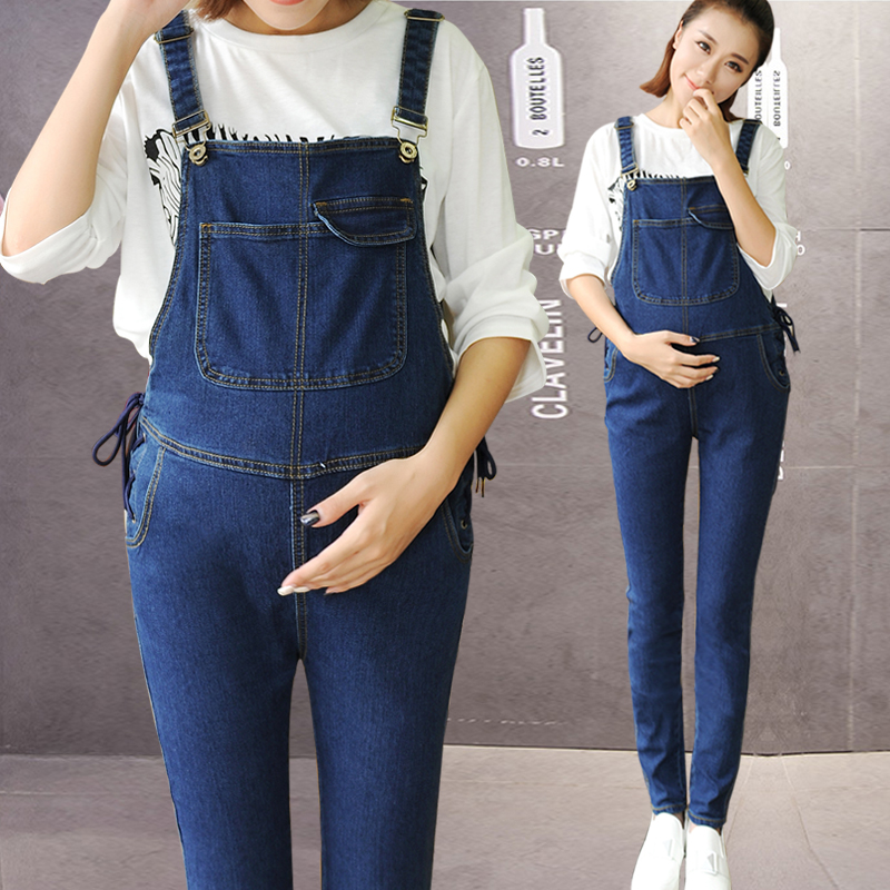 Warm Plush Winter Jumpsuit Maternity Pants Clothes For Pregnant Women Denim Overalls Roupa Gestante Trousers Plus Size free shipping 2018 jeans fashion plus size 24 30 pants for tall women high quality overalls jumpsuit and rompers denim trousers