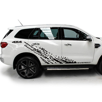 custom car decals 6pc protect scratch modified side body mud 4X4 styling graphic vinyl car stickers for ford everest 2015 2018