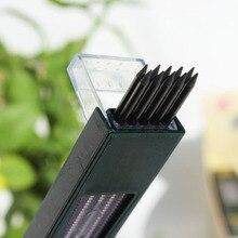 10 шт./кор. 2 мм 2B HB черный 2,0 мм механический карандаш свинца пополнения чернил 120 мм