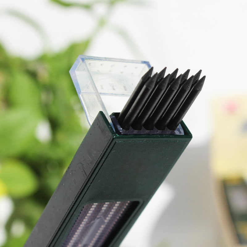 10 unids/caja 2mm 2B HB negro 2,0mm lápiz mecánico plomo repuesto 120mm envío gratis