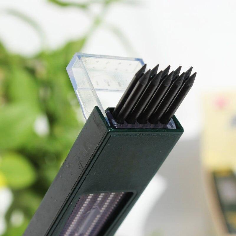 10pcs/box 2mm 2B HB Black 2.0mm Mechanical Pencil Lead Refill 120mm free shipping