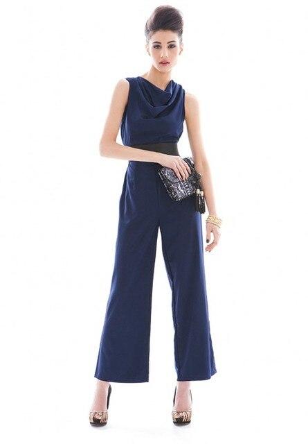 Ladies Fashion Jumpsuit Women Elegant sleeveless Rompers Women Jumpsuit