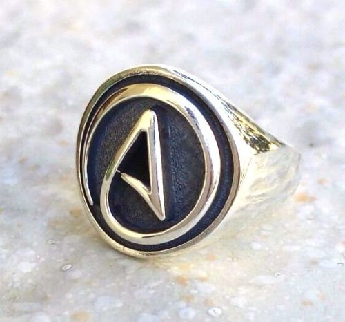 Atheist Slavic Ring Fine Jewelry Non Believe Symbol 3d Viking Ring