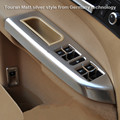 for VW Touran left front car interior Door handle chrome Frame Cover Trims sticker