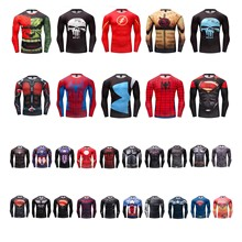 New Spiderman Ironman Superman Captain America Winter soldier Compression Long Sleeve T shirt Costume Comics Superhero mens