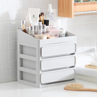 BR Plastic Cosmetic Drawer Makeup Organizer Drawers Makeup Storage Box Container Nail Casket Holder Desktop Sundry Storage Case