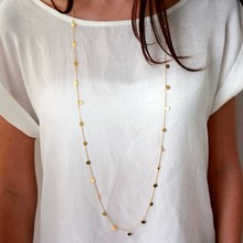 Bohemia Long Necklace Women Gold Coin Necklace Collar Collier Collares largo mujer kolye Femme Accessories Jewelry