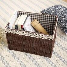 Эскиз Европейских переплетения корзина хранения ящик для хранения шкаф ящик для хранения отделка коробки белье игрушка рабочего коробка для хранения