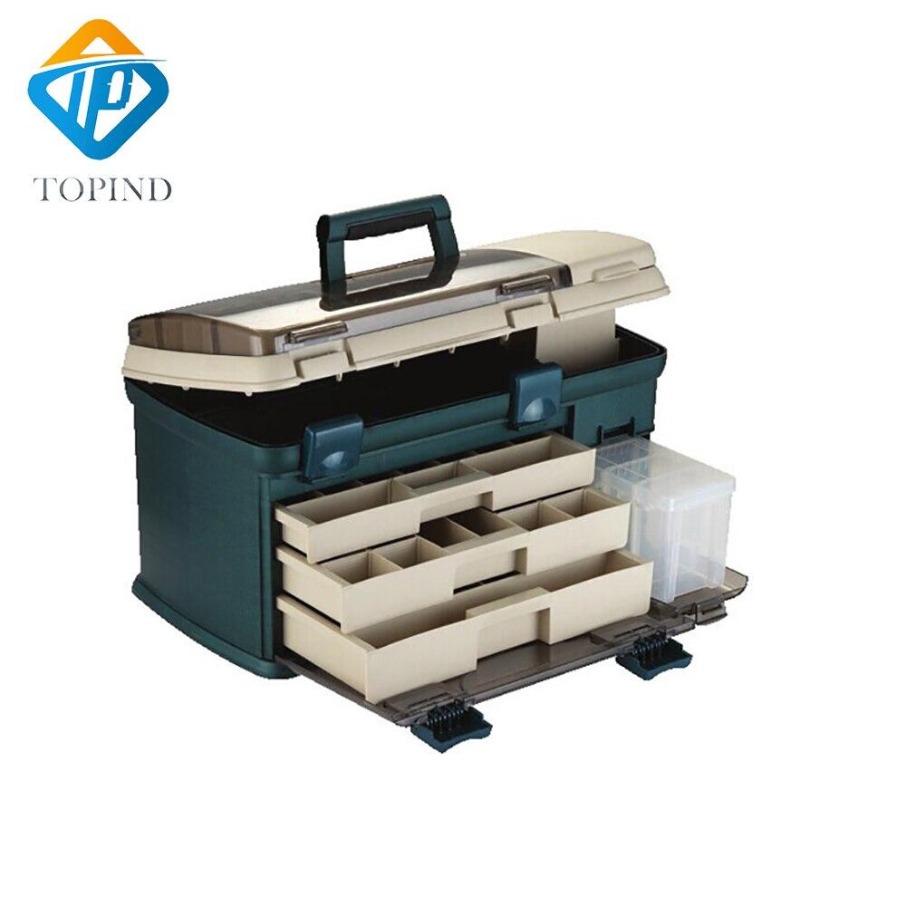 550*300*300mm PP + PC + TPE Große Angelgerät Box High Quality TPE Griff Fischerei Box Karpfenangeln Tools Zubehör - 3