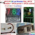 P7.62 полноцветный из светодиодов модуль, 7.62 мм rgb крытый, 32 * 16 пикселей, 244 мм * 122 мм высокая ясно, Марка микросхемы и чип, Rgb вход из светодиодов видео модуль