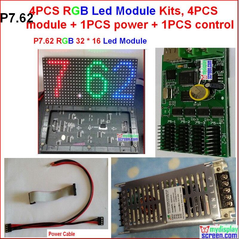 P7.62 полноцветный светодиодный модуль, 7.62 мм RGB закрытый панель, 32*16 пикселей, 244 мм * 122 мм высокой ясно, бренд ic & чип, RGB знак светодиодный видео