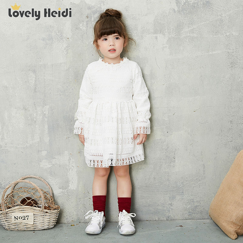 Girl Dress Long Sleeve 2016 Brand Princess Dress Girls Clothes lace hollow Kids