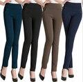 XL-10XL Plus Size 2015 Nova Moda Outono Inverno Mulheres Leggings de Meia Idade Lazer Leggings Alta Elastic Leggings Causais BG253
