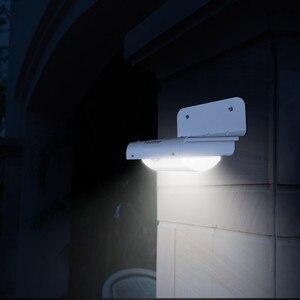 Image 2 - 2 uds, Nueva Generación, 16 LED, energía Solar, Sensor de movimiento por infrarrojos PIR, lámpara de seguridad para jardín, luz exterior para decoración de jardín