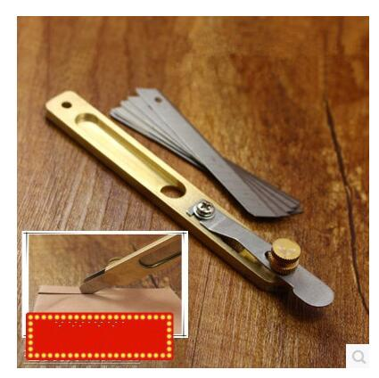 Diy Handmade Leather Tool Leather Brass Incision Cutter Knife Copper