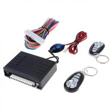 цена на Car Burglar Alarm Systems Auto Remote Central locking Kit Door Lock Vehicle 12V Keyless start stop System with Remote Control