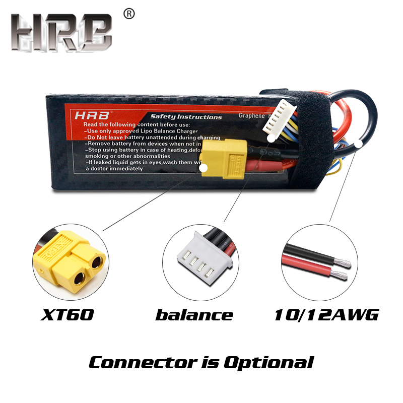 Image 2 - HRB Graphene 3S Lipo Battery 11.1V 5000mah 6000mah 4000mah 3800mah 3000mah 2S 7.4V 4S 14.8V 5S 6S 22.2V RC Airplanes Parts XT60-in Parts & Accessories from Toys & Hobbies