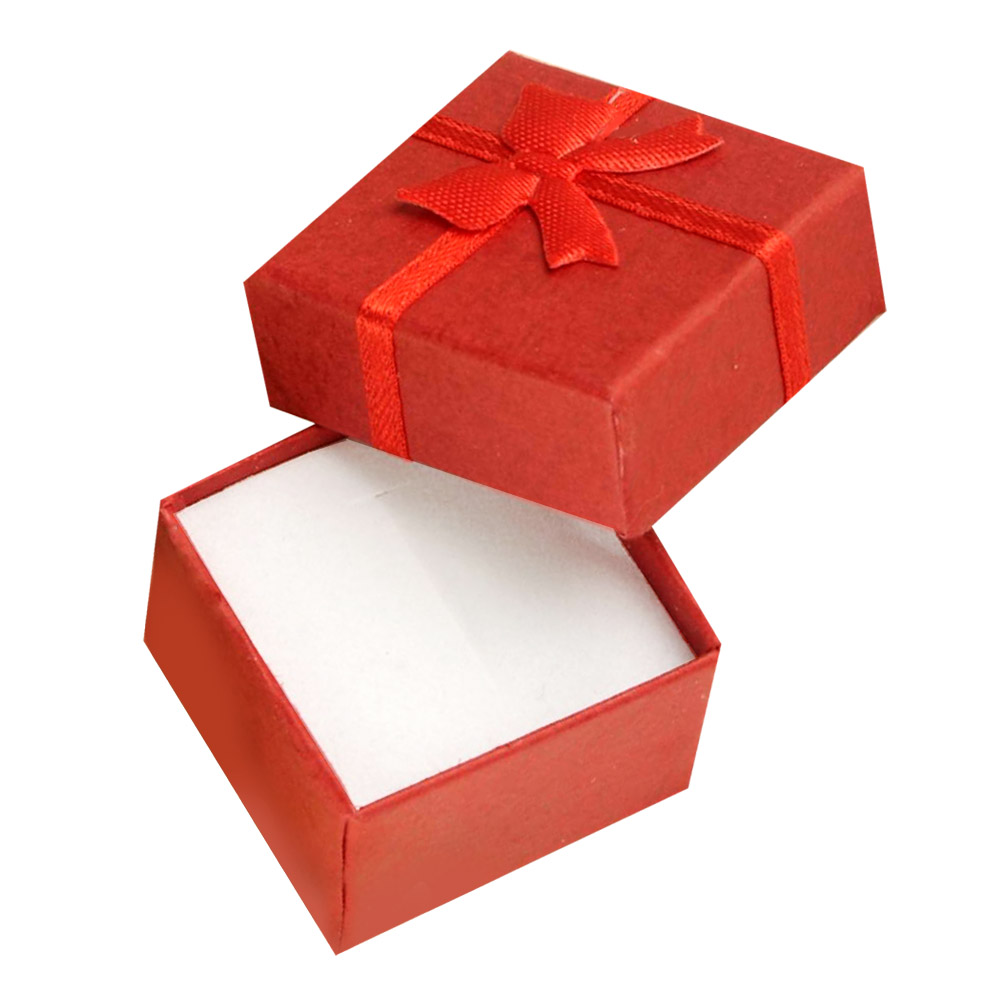 Cheap+Free shipping 4*4*3cm jewelry purple earring bracelet ring small gift box red square carton bow case ES4545