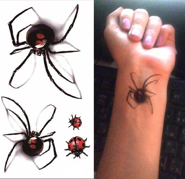 check-out sélectionner pour véritable acheter pas cher №Étanche autocollant de tatouage Temporaire 3D araignée ...