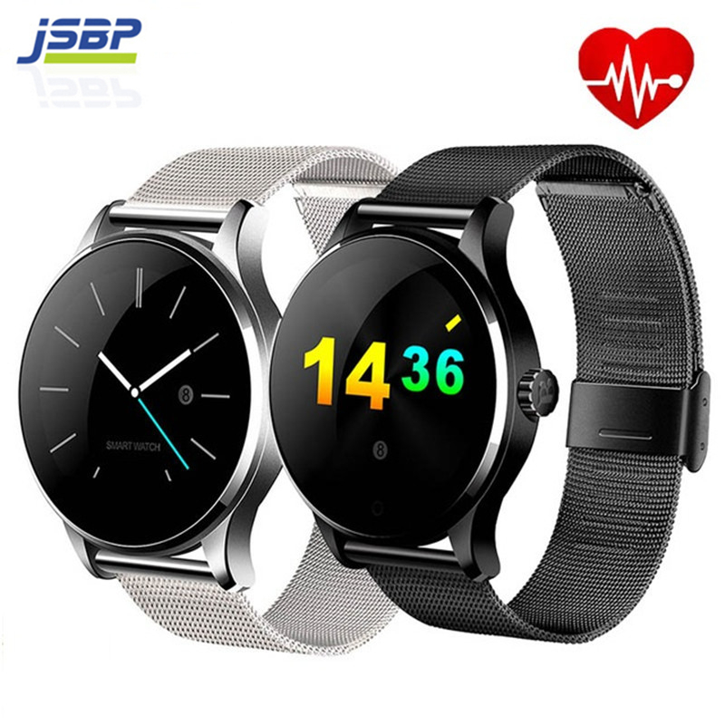 JSBP K88H Smart Watch Track Wristwatch Bluetooth Heart Rate Monitor Pedometer Dialing Smartwatch Phone For Android IOS smart watch ips screen track wristwatch mtk2502 bluetooth smartwatch heart rate monitor pedometer dialing for android ios k88h