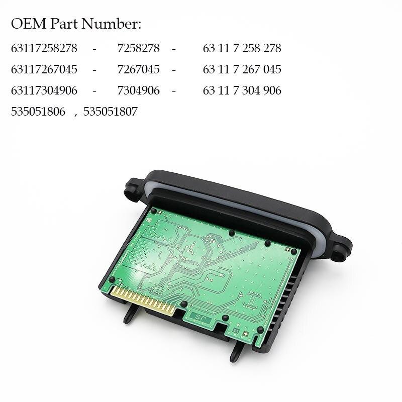 B-N-W F10 F11 F07 Halogen Headlight TMS Driver Module 63117258278 63117267045 gf go7300 b n a3 gf go7400 b n a3