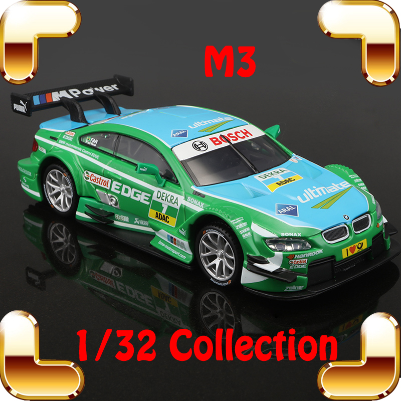 New Year Gift M3 1/32 Model Race Static Collection Toys Car Metal Vehicle Mini DTM Decoration Alloy Diecast Present Cars Fans new year gift gallargo 1 18 large model metal car metallic scale simulation diecast alloy collection toys vehicle present