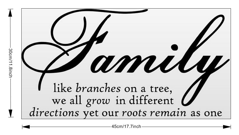 love family like branches on a tree wall decal quotes attachment to