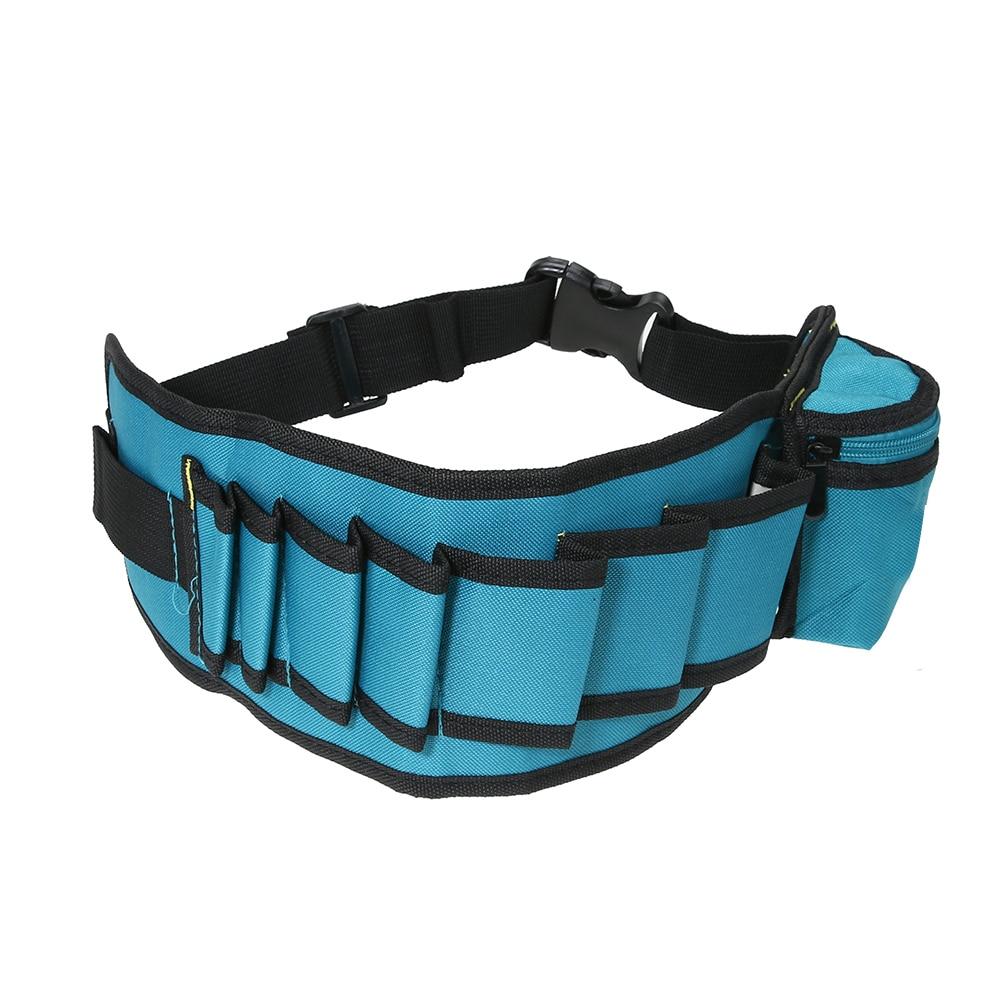 Multi-pocket Durable Electrician Canvas Waists Tool Bag Waterproof Carpenter Belt Bag Utility Kit Pocket Pouch Organizer Bags