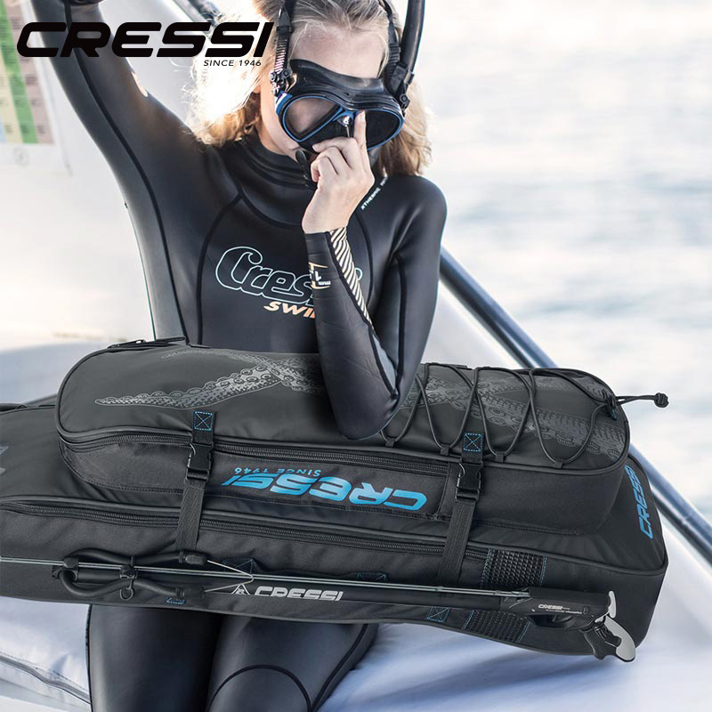 Cressi Long-Fin-Bags Scuba-Diving-Bag Backpack-Free Insulated-Cooler With Compartment