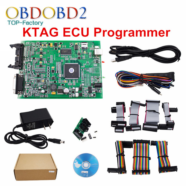 New Generation K TAG ECU Programming Tool V2.13 Firmware V6.070 KTAG Master Version No Tokens Limited K-TAG ECU Chip 6 Languages