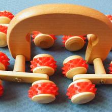 The new wooden ten six-wheel lunar rover multi-function body massager to