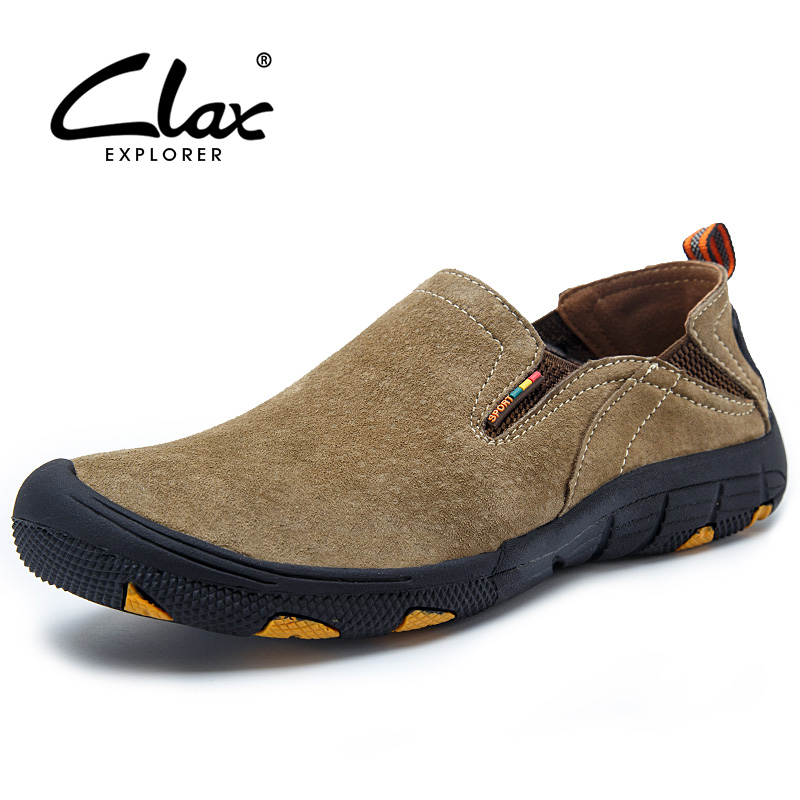 Clax Men's Walk Shoes Spring Summer Casual Shoe Slip On Breathable Suede Leather Footwear Outdoor Fashion Loafer For Men Classic clax men summer shoes slip on 2017 breathable male flats loafers fisherman shoe casual white boat footwear leather sandals