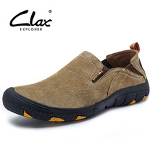Clax Men's Walk Shoes Spring Summer Casual Shoe Slip On Breathable Suede Leather Footwear Outdoor Fashion Loafer For Men Classic