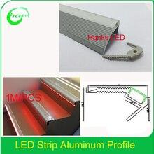 20 шт./лот, алюминиевый профиль для встраиваемых стен или потолка, светильник для лестницы, экструзионный профиль